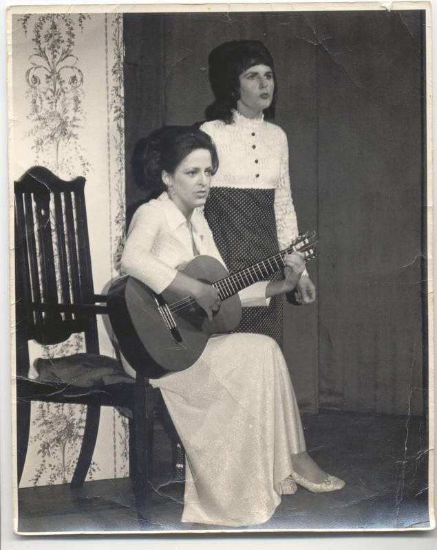 Ruth (seated) and Marian - ex-Hayes Girls Choir /Mellow Lane Choir members_