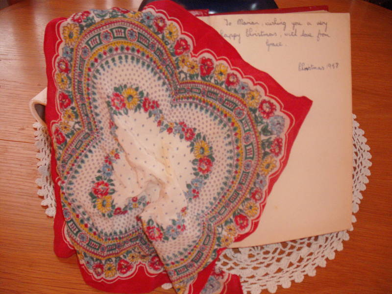 silky handkerchief and book