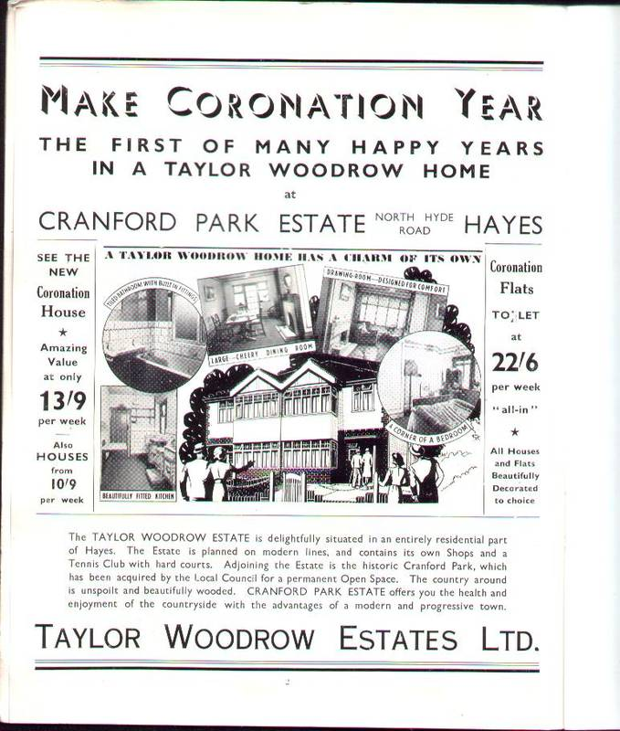 1937 Taylor Woodrow Ad Cranford Park estate