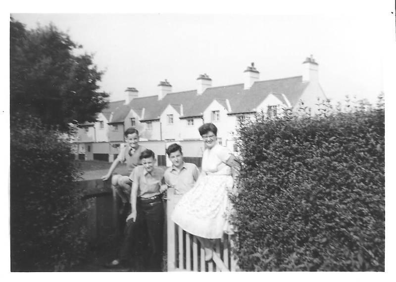 The Humber family at 5 Thompson Road, RAF Uxbridge.