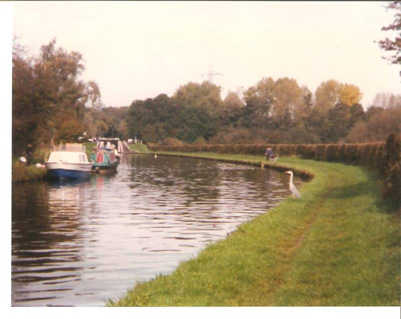 Grand Union Canal near Denham Lock, 1995