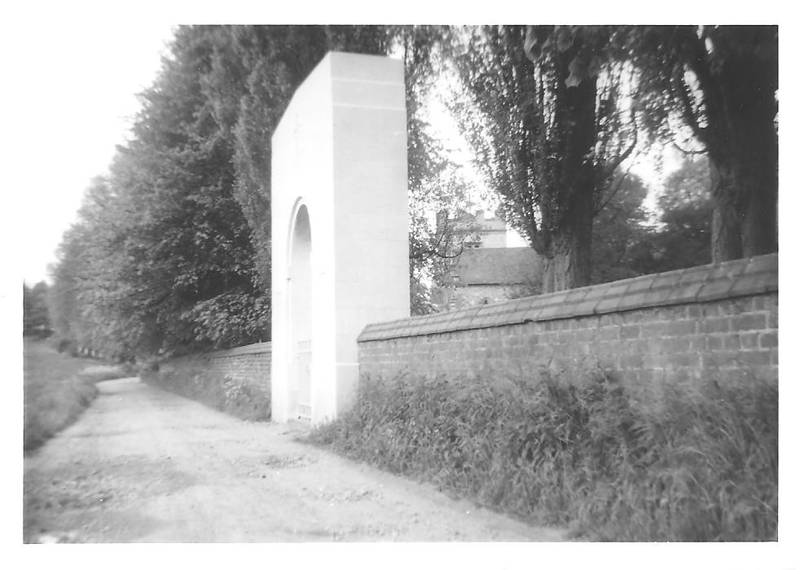 St Mary's Church and Gate to Australian Military Cemetery, Harefield, 1966
