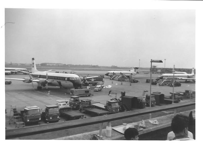 Heathrow Airport as seen from the Queen's Building 1965