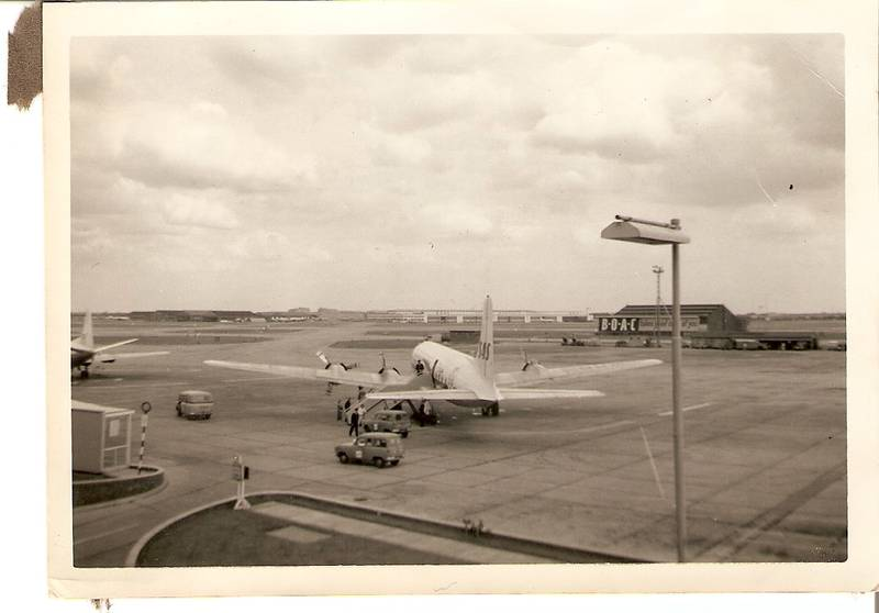 Heathrow 1958, View from rooftop towards Hounslow