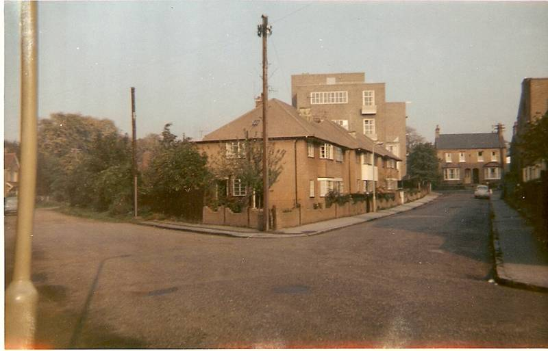 Bassett  Road, Uxbridge, seen from Victoria Road,1963