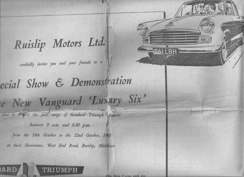 advertisement in Hayes paper 1960