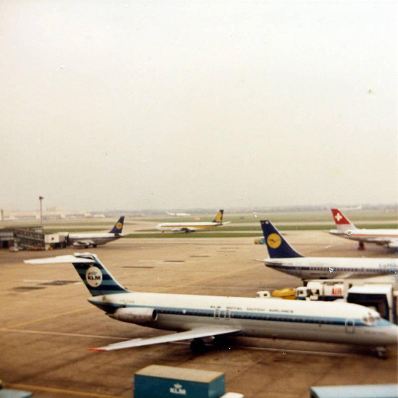Seeing grandad and Stephen off to Australia at Heathrow 1973