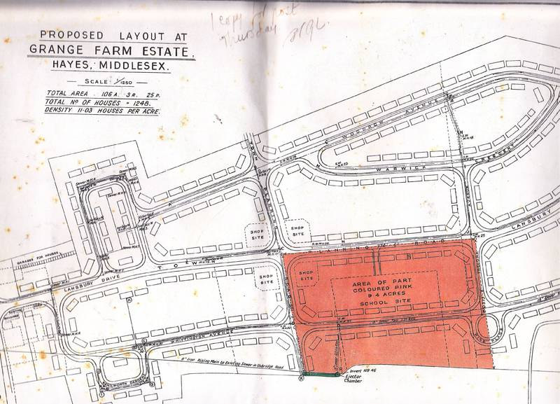 Plans for the sale and redevelopment of Grange Farm Hayes