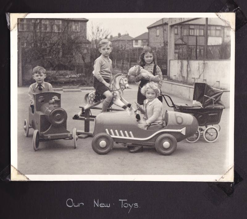 New nursery toys Grange Park 1950s