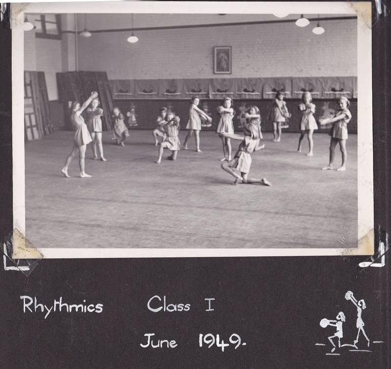 Grange Park Infant School hall 1949