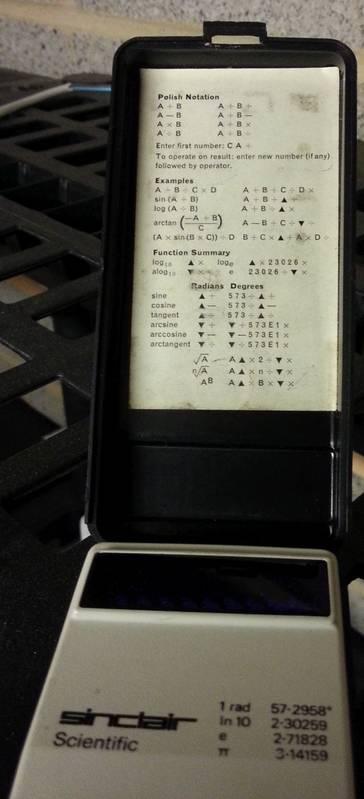 Still got our first calculators... from Sinclair