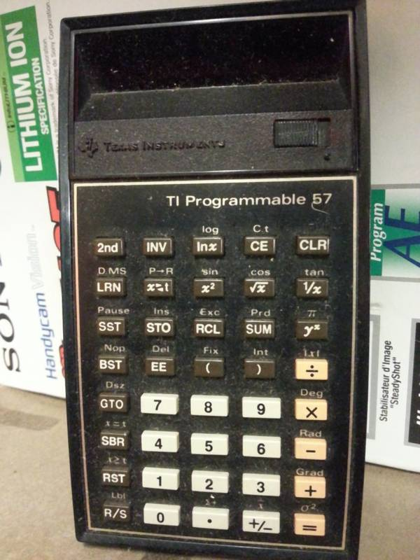 Still got our first calculators... from Texas Instruments