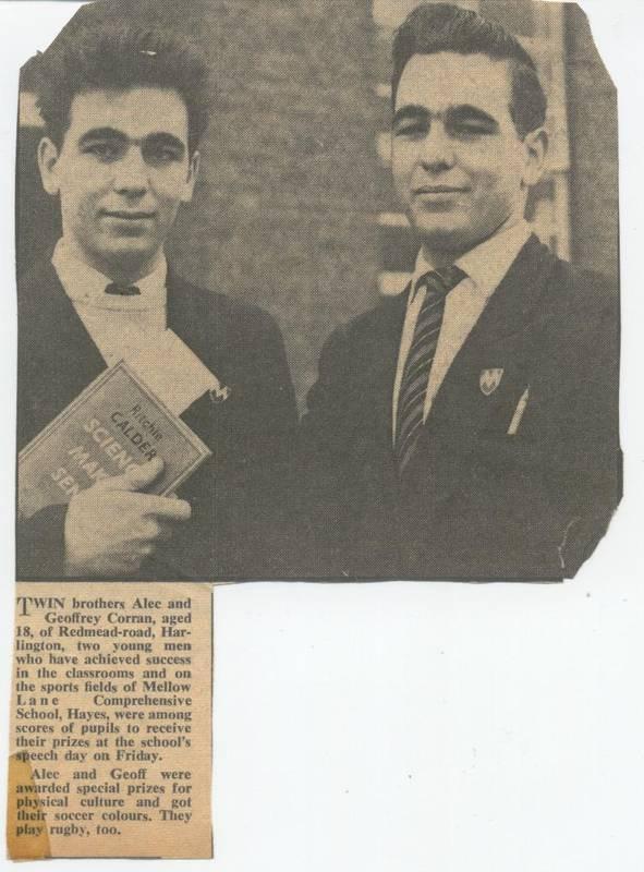 The Corran Twins on Mellow Lane School  Prize Day