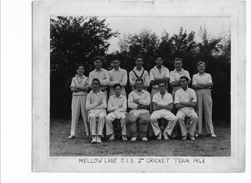 Mellow Lane 1948 Old Boys Cricket Team