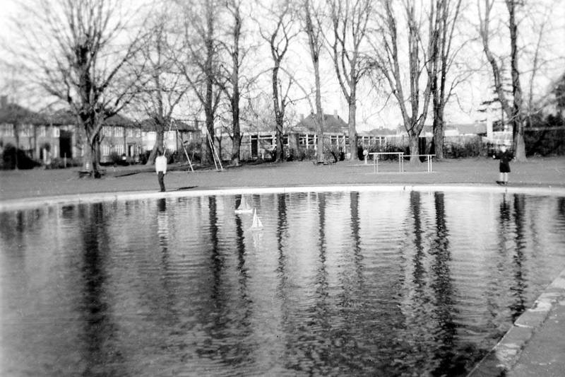 Sailing our yachts in Barra Hall Park 1960s