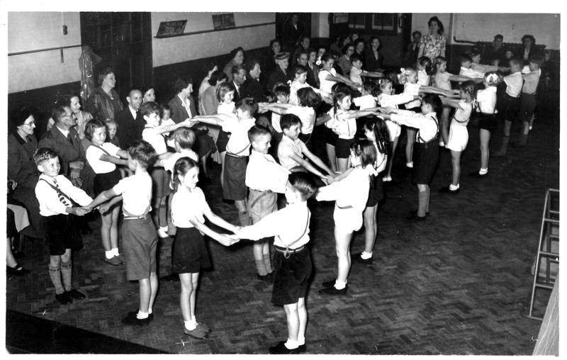Country Dancing Townfield School circa 1950
