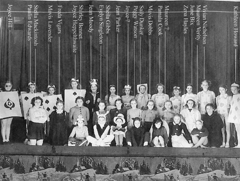 Townfield Alice in Wonderland production, 1940s