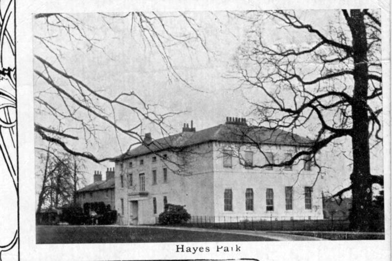 1908 Postcard  Says This is Picture of 'Hayes Park'