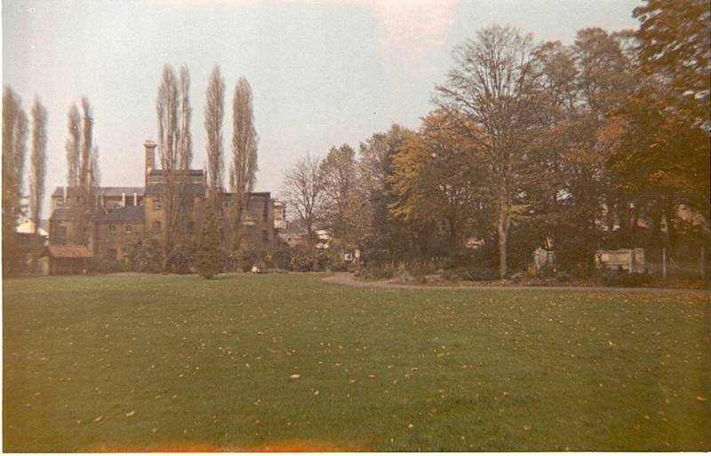 The north end of Fassnidge Park, Uxbridge, 50 years apart