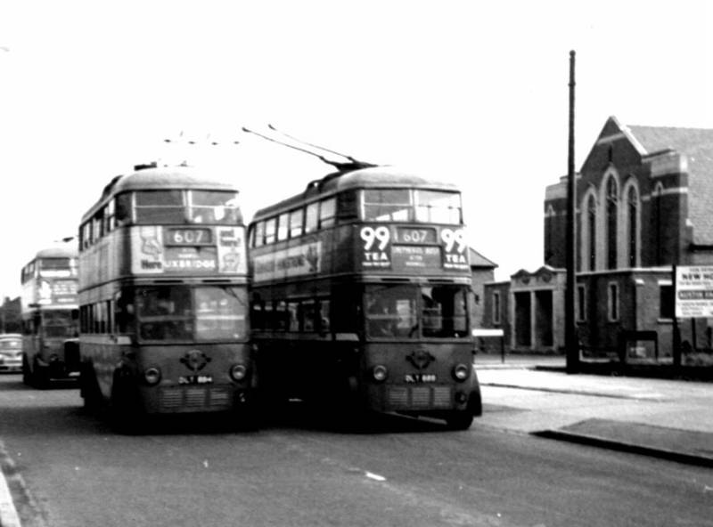 Hayes End trolley buses