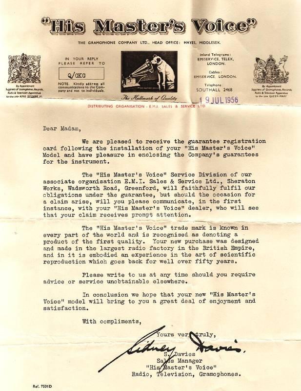 HMV_letter