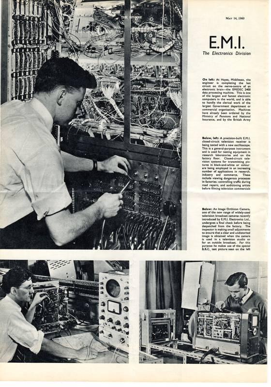 EMI Electronics Division 1960