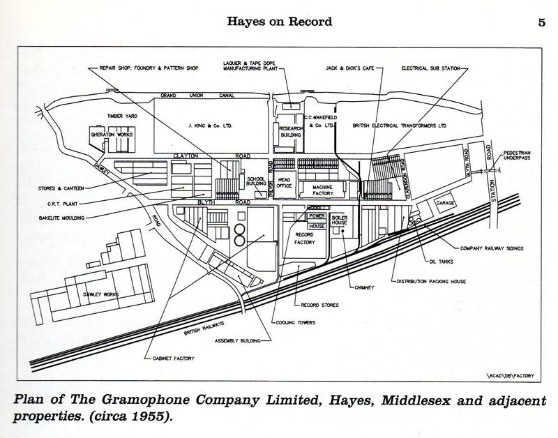 Plan of EMI HMVsite and surrounding area 1955