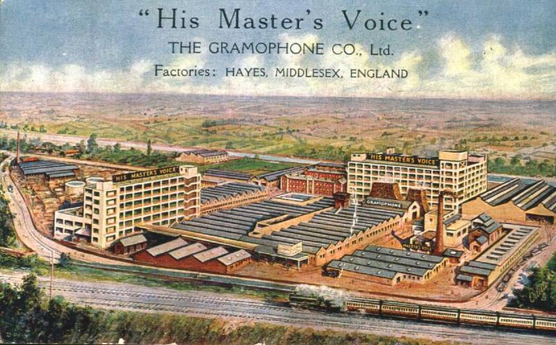 The mighty HMV / EMI site in Hayes Middlesex
