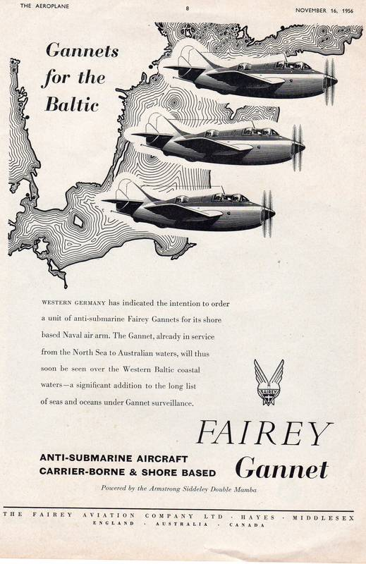 Fairey Aviation Gannet advert