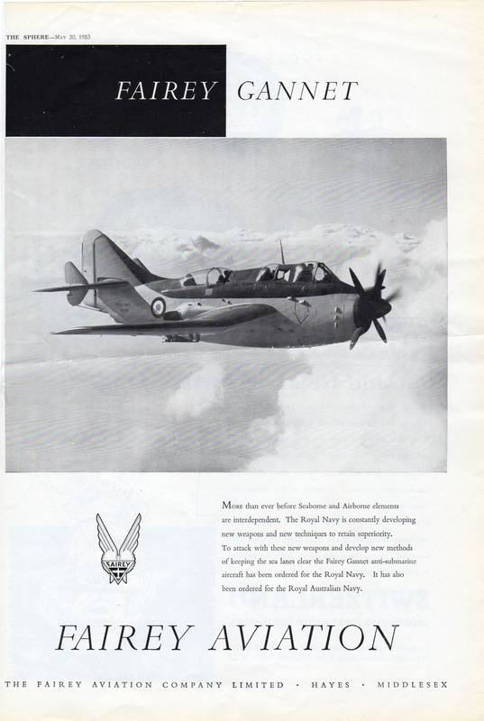 Fairey Aviation Gannet advert