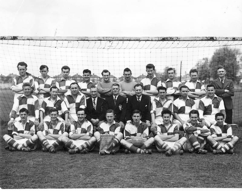 Fairey Aviation Football Team April 1955