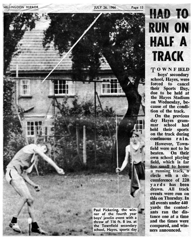 Hillingdon Mirror article on Townfield School Hayes, 1966
