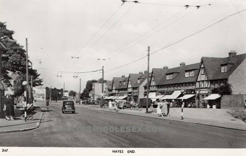 Uxbridge Road, Hayes End probably 1950s