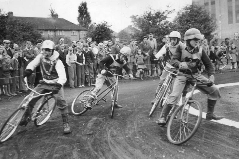 Cycle Speedway in Hayes, Nov. 1950  The Hayes Meteors
