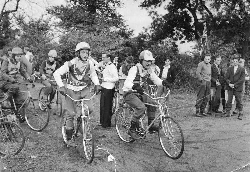 Cycle Speedway in Hayes, Nov. 1950  The Hayes Meteors
