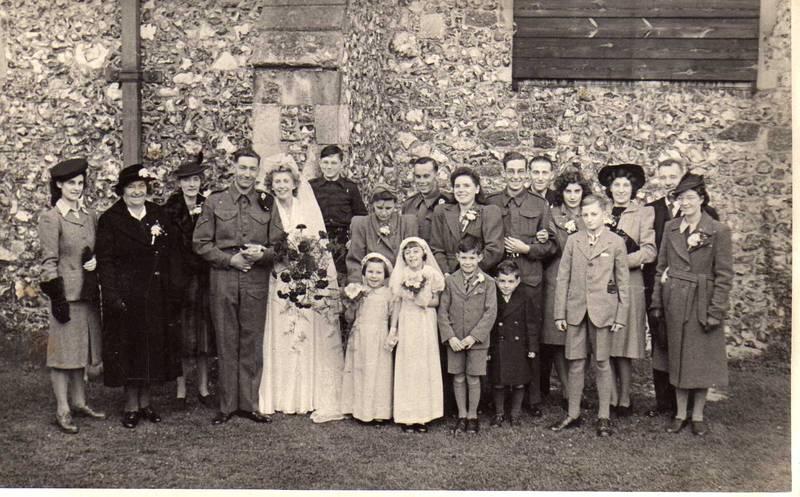 wedding on Ernest Peggrem and Amelia Went