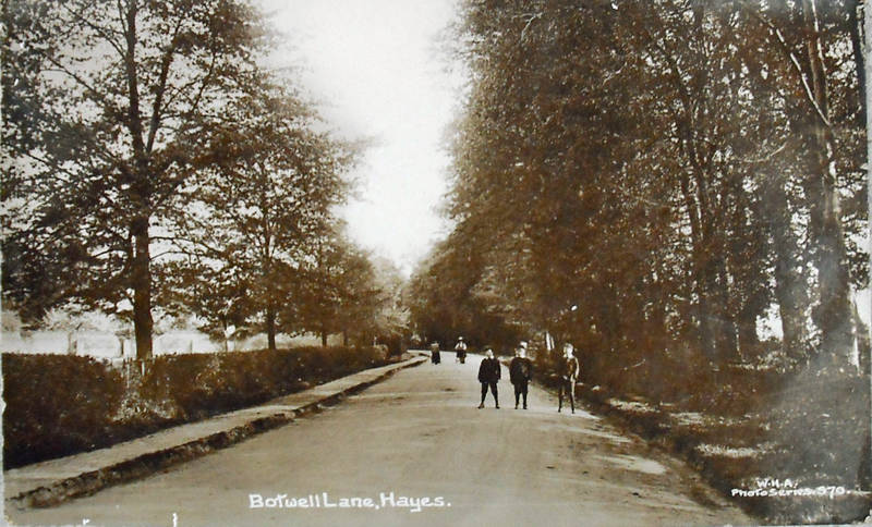 Botwell Lane in 1913, Hayes