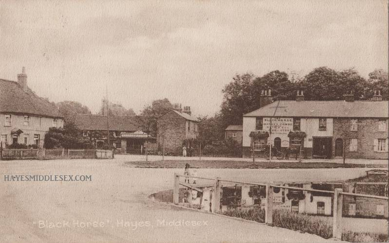 Black Horse pub corner of Wood End Green Road