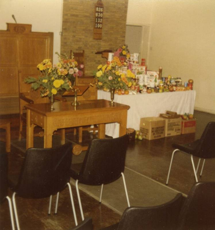 Harvest Festival Hayes Town Chapel 1980