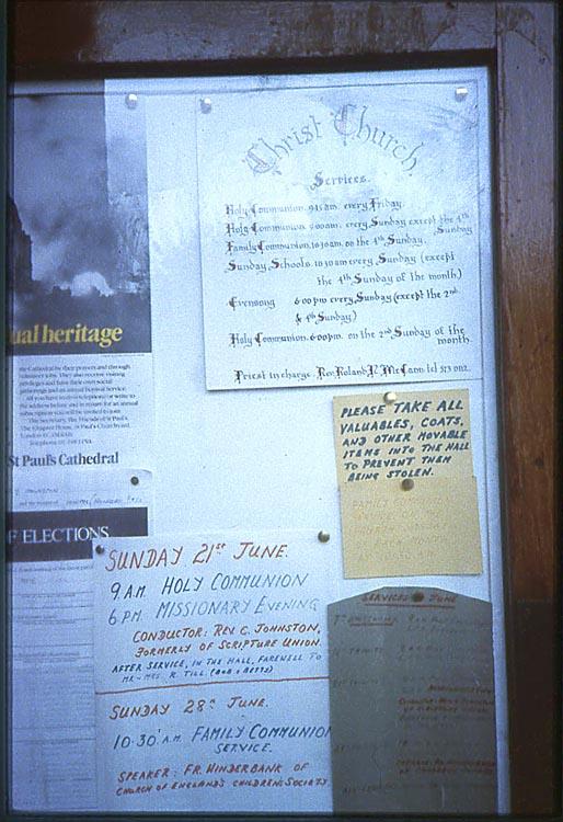 049_June_1981_Christ_Church_Notice_Board