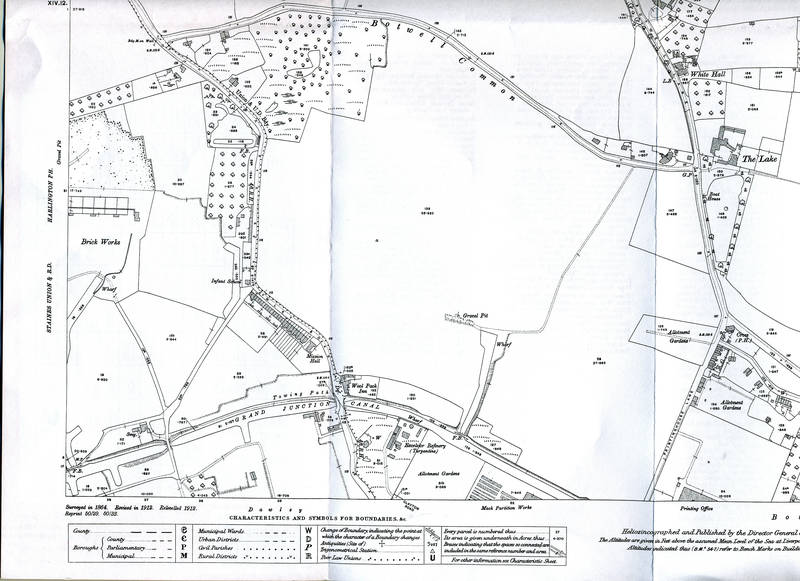 1914 Ordnance Survey Map of Hayes, South West Section