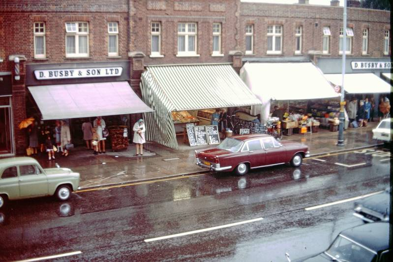 July 1970. Shops on Coldharbour Lane Including Busby's & Lincoln's