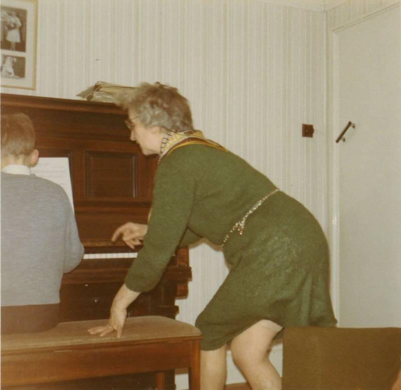 Uxbridge piano teacher Phyllis Matthews