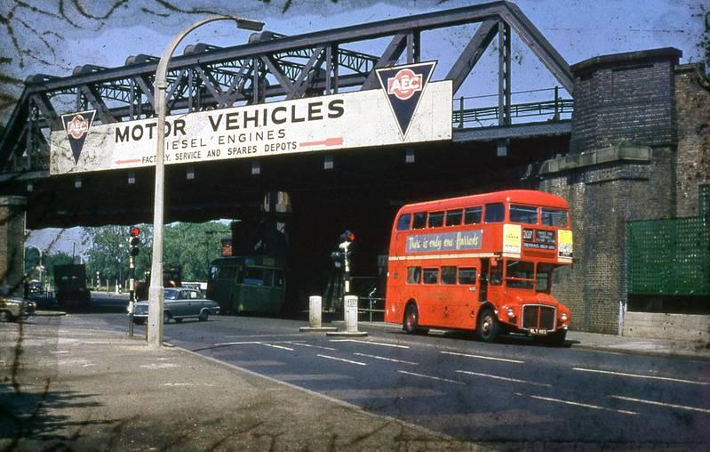 AEC Routemaster at Iron Bridge, Southall