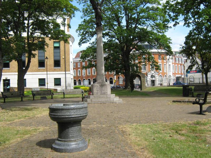War Memorial in Lynch Gardens, Uxbridge, May 2015